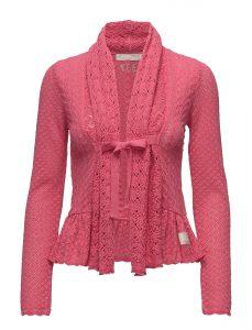 """a22a5c708836 Också den här koftan i färgen """"sorbet pink"""" är från Odd Molly, och även  denna kofta har den karakteristiska volangkanten och rosettknytningen."""